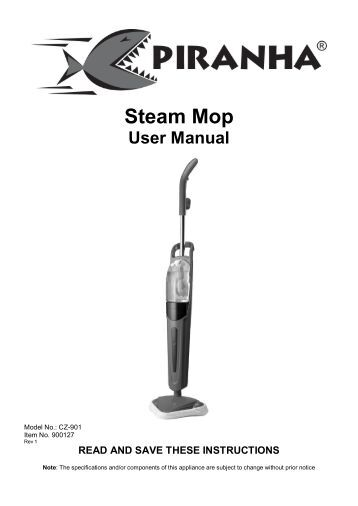 instructions on how to mop