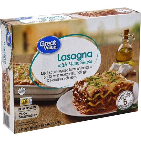 great value lasagna with meat sauce instructions