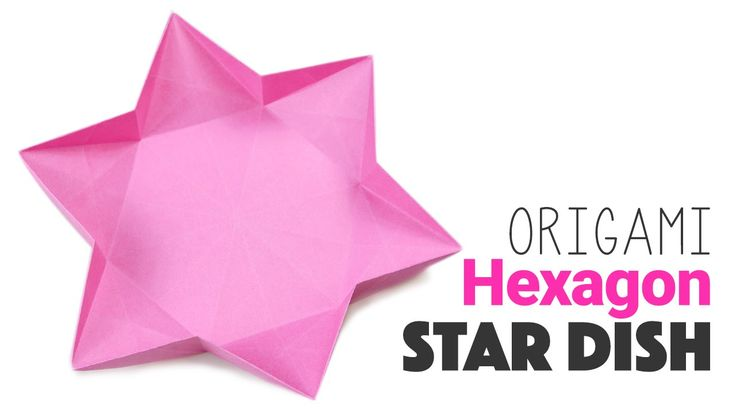 origami clapping star instruction on paper