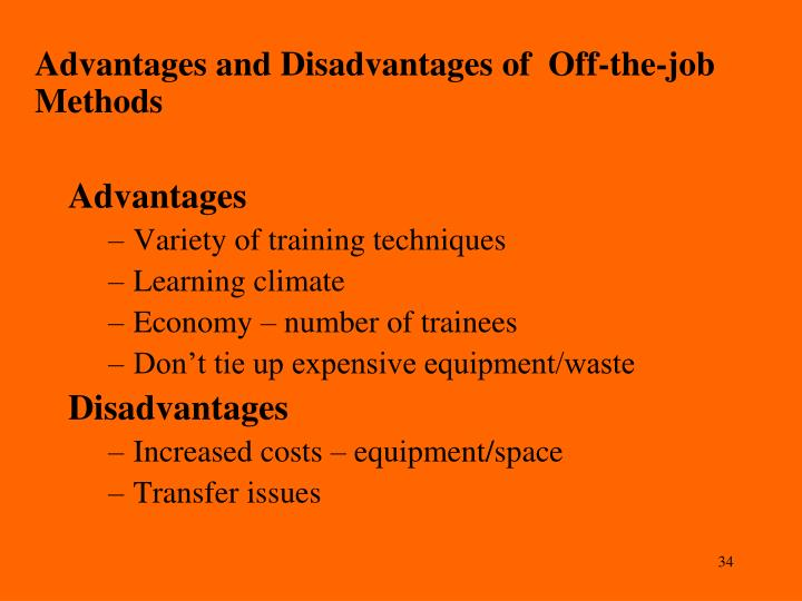 off the job training instructional methods
