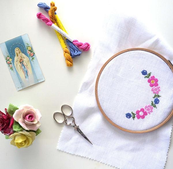 joy sunday cross stitch french instructions