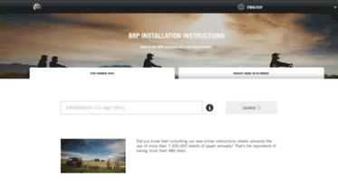brp installation instructions english