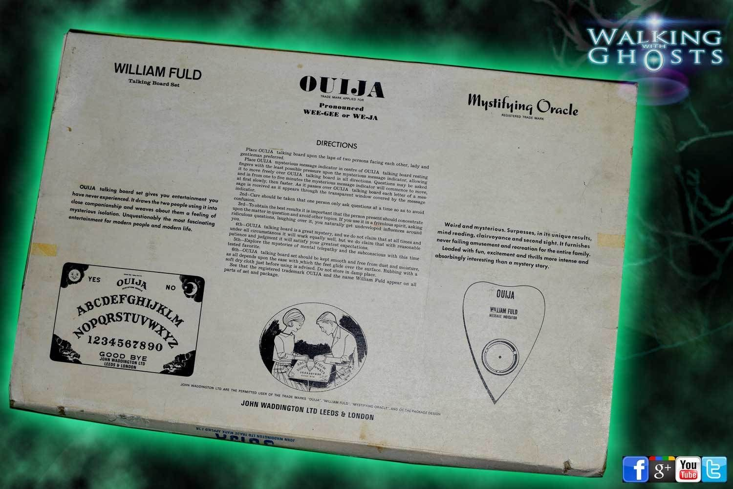 ouija board instructions at home