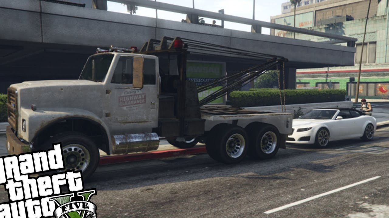 gta v tow truck instructions pc
