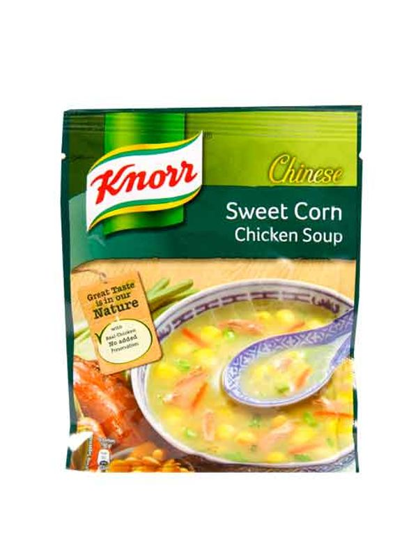 knorr chicken corn soup instructions