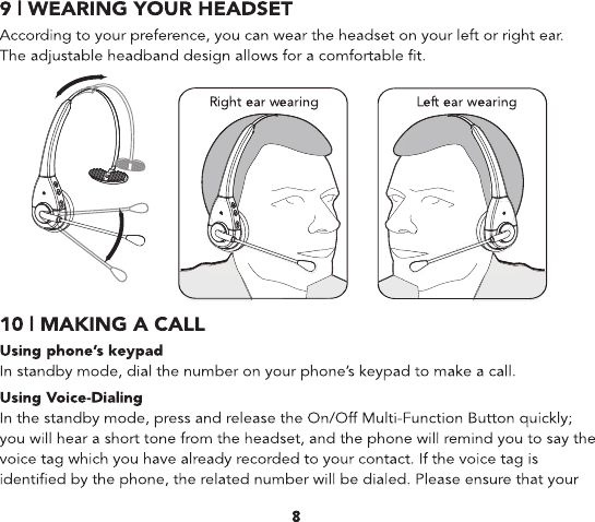 leeno blue tooth headset instructions