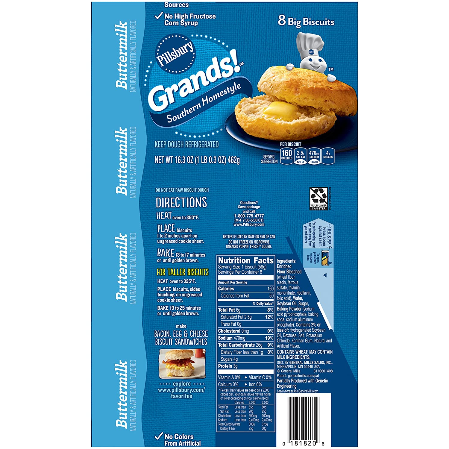 pillsbury homestyle biscuits instructions