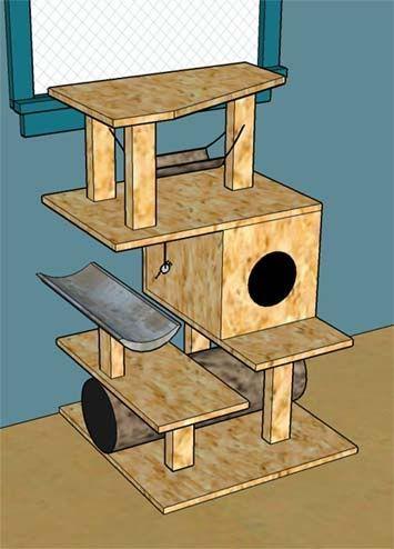 cat craft cat tree instructions