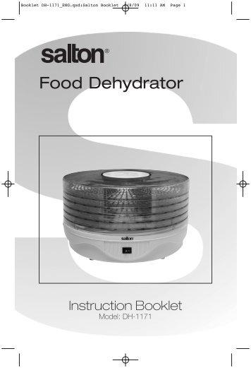 deni food dehydrator instruction booklet