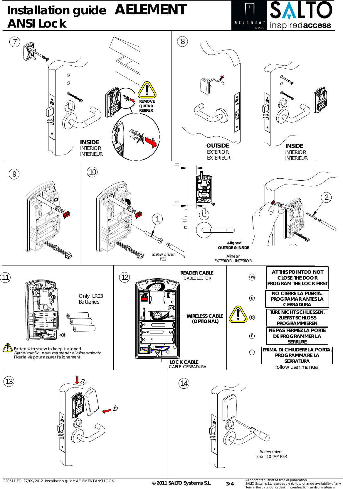 powerbolt electronic lock instructions
