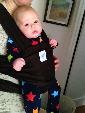 moby wrap instructions for front facing