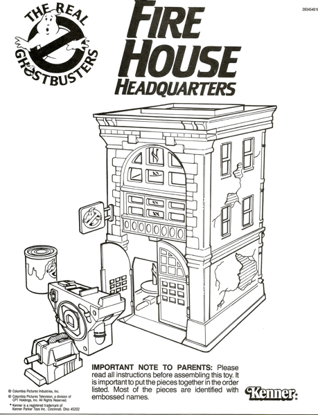 ghostbusters firehouse headquarters instructions