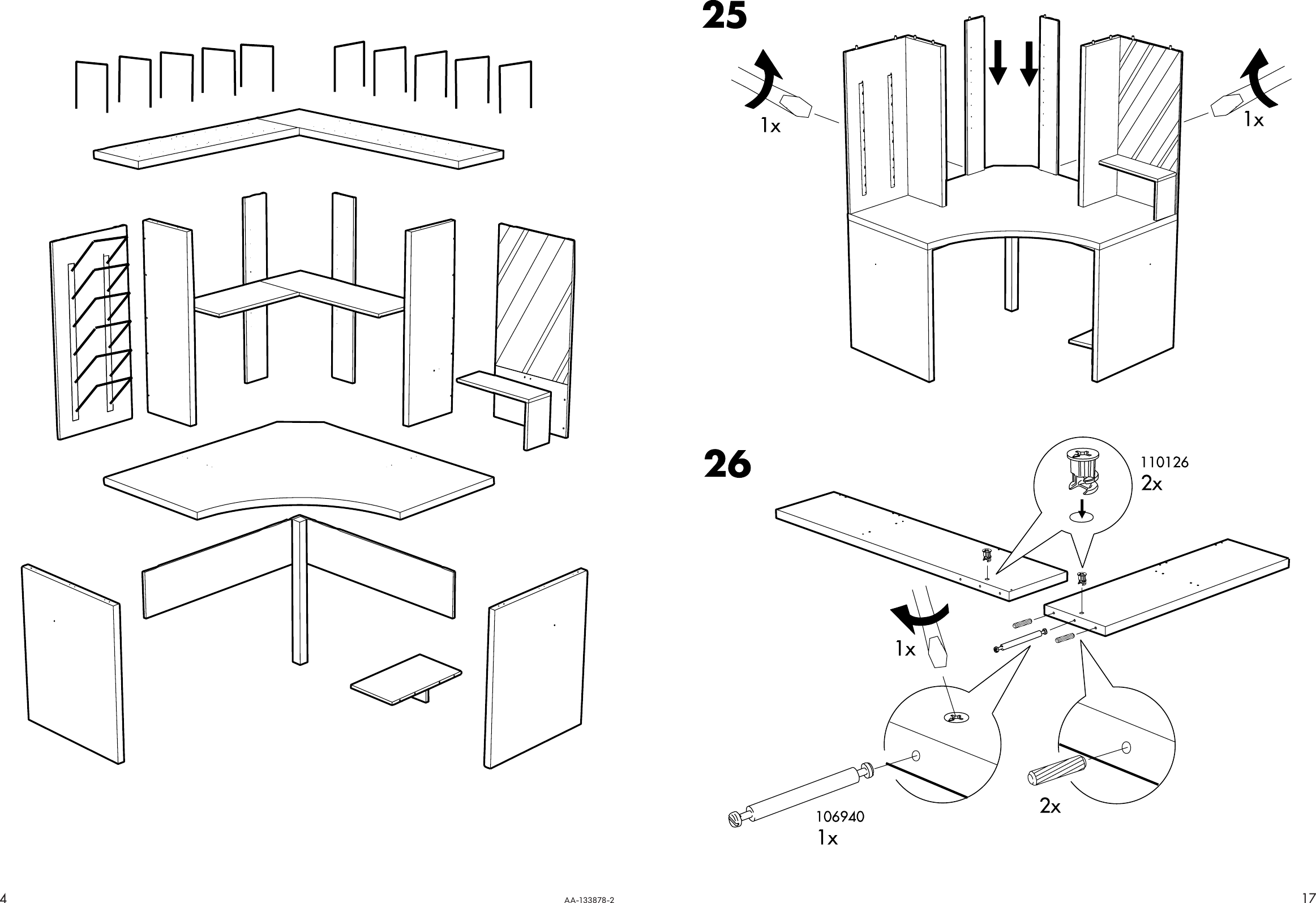 ikea alve corner workstation instructions