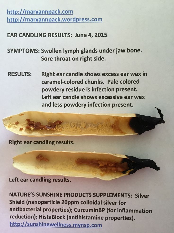 instructions for using paraffin ear candles